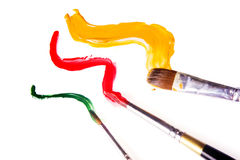 Paint brush and paint Stock Images