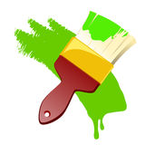 Paint Brush With Paint Stock Images