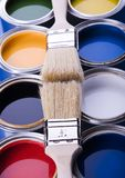 Paint brush and paint Royalty Free Stock Photo