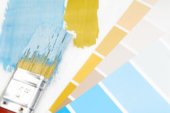 Paint brush and paint color Stock Photo