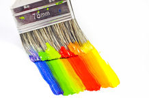 Paint brush painting royalty free stock photo