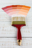 Paint Brush and Sample Charts Stock Images