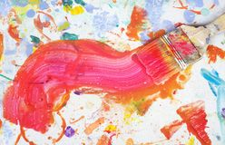 Paint brush, splatters Stock Images