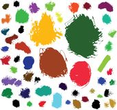 Paint brush spots Stock Photo