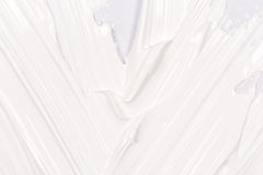 Paint brush stroke over the white paper Royalty Free Stock Photography