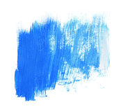 Paint brush stroke texture blue acrylic Stock Images