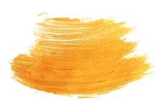 Paint brush stroke texture golden acrylic Stock Photo