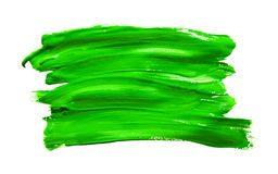 Paint brush stroke texture green watercolor Royalty Free Stock Photos