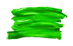 Paint brush stroke texture green watercolor Stock Photo