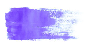 Paint brush stroke texture purple acrylic Stock Photos