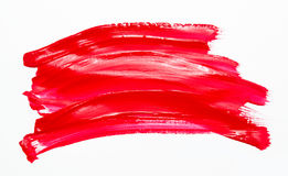 Paint brush stroke texture red watercolor Royalty Free Stock Image
