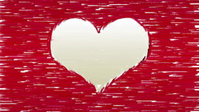 Paint brush strokes forms heart symbol stock footage