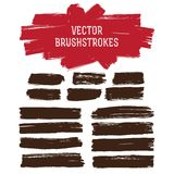 Paint brush strokes set Stock Images