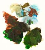 Paint brush strokes and splashes Stock Photo