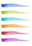 Paint brush strokes, vector set Royalty Free Stock Image