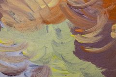 Paint brush strokes on wood. Multicolored brush strokes on wood background Royalty Free Stock Image