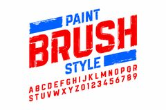 Paint brush style modern font Royalty Free Stock Photos