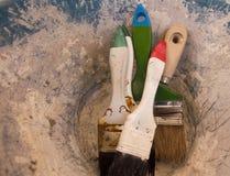 Paint brush tools Stock Photo