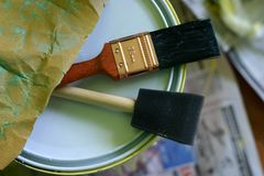 Paint Brush / Tools and Can Stock Photos