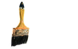 Paint brush tools Isolated on white background,clipping path.  stock image