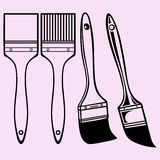 Paint brush vector silhouette Royalty Free Stock Images
