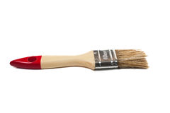 Paint brush with a wooden handle. On isolated background Royalty Free Stock Photo