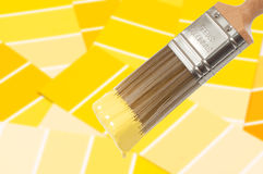 Paint Brush - Yellow Stock Photos