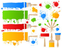 Paint and brush5 Royalty Free Stock Photo