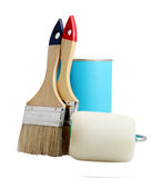 Paint and Brushes Royalty Free Stock Image