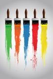 Paint brushes. Illustration background Royalty Free Stock Image