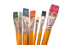 Paint brushes. On white background Stock Image