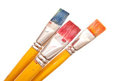 Paint brushes. On white background Royalty Free Stock Photos
