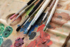 Paint brushes Royalty Free Stock Photography