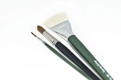 Paint Brushes. A set of paint brushes on an isolated background Royalty Free Stock Images
