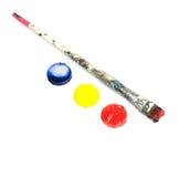 Paint brushes. On white background Stock Photography