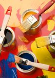 Paint and brushes Royalty Free Stock Photography