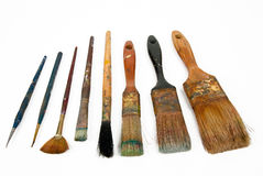 Paint brushes. Isolated over a white background Stock Photography