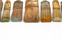 Paint brushes. Isolated over a white background Royalty Free Stock Photography
