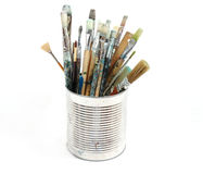 Paint brushes royalty free stock photo