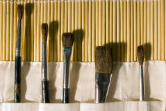 Paint Brushes. A set of paint bruhes Stock Photography