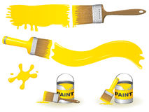 Paint brushes. Please check my portfolio for more construction illustrations Stock Photography