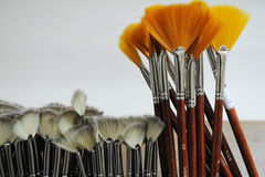 Paint brushes of art at market Stock Images