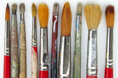 Artist paint brushes background Royalty Free Stock Images