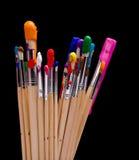 Paint Brushes on Black Royalty Free Stock Photo