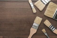 Brushes on the table Royalty Free Stock Image