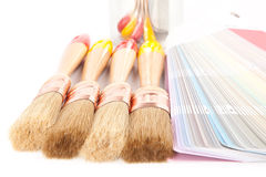 Paint brushes and can Royalty Free Stock Photos