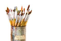 Paint brushes in a can Stock Images