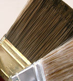 Paint Brushes Close Up. Two paint brushes up close royalty free stock photography