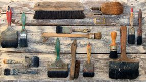 Paint brushes collection Royalty Free Stock Photography