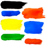 Paint brushes colorful background Royalty Free Stock Photo